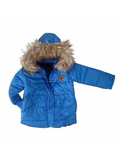 Quzucuk Kids Erkek Çocuk Mavi Kışlık Mont Renkli